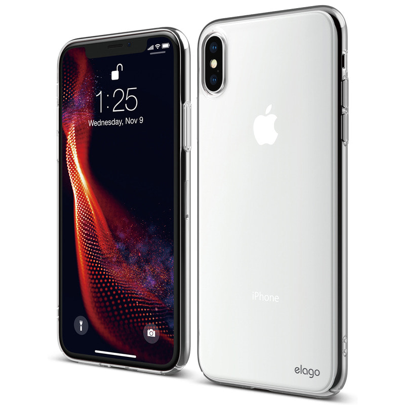 [Elago] Slim Fit Case for iPhone XS Max - Clear