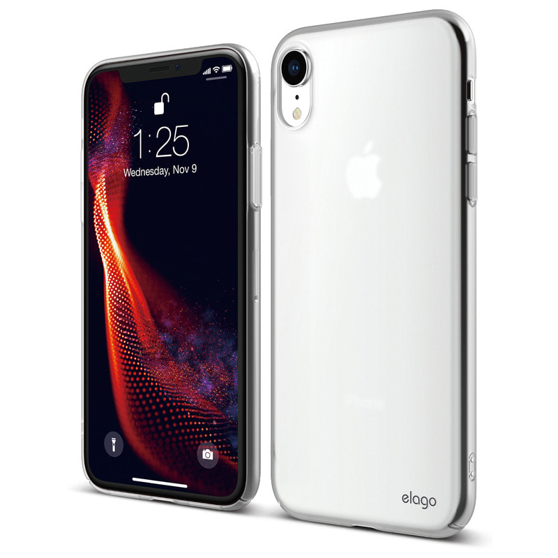[Elago] Slim Fit Case for iPhone XR - Soft Clear