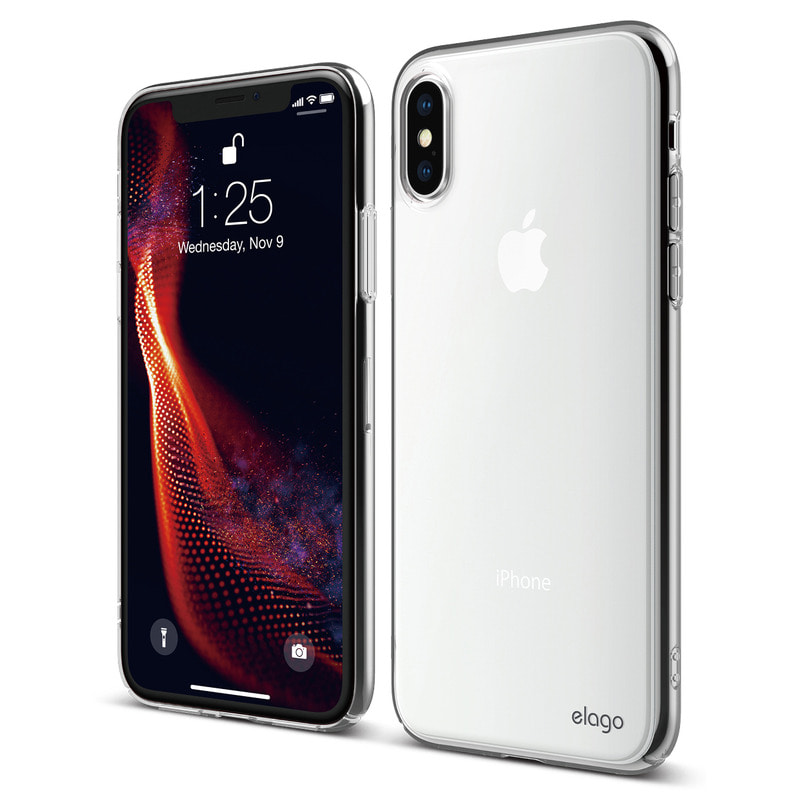 [Elago] Slim Fit Case for iPhone XS - Clear