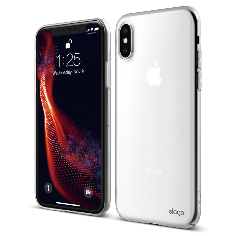[Elago] Slim Fit Case for iPhone XS - Soft Clear