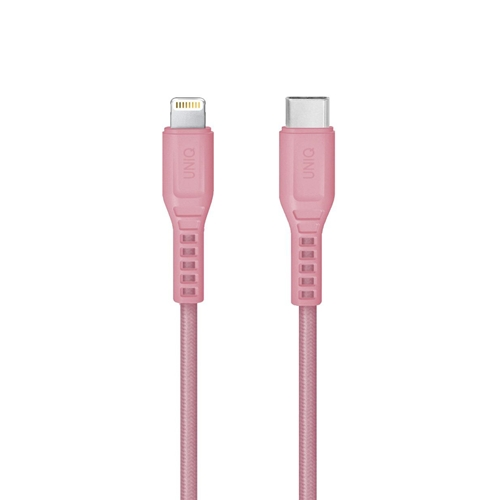 [UNIQ] Flex USB-C to Lightning Cable - Pink