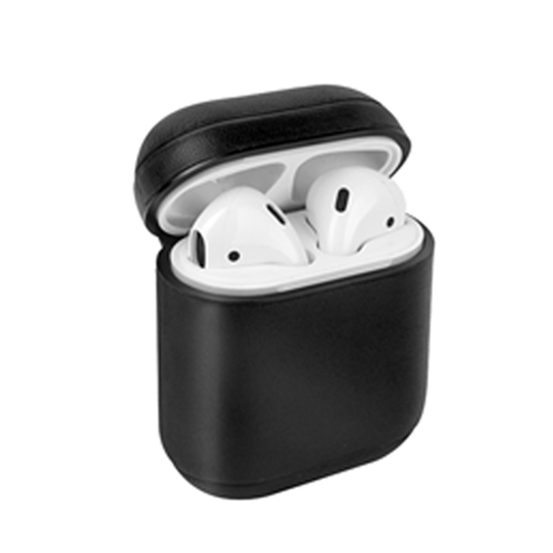[UNIQ] Leather AirPods Snap Case - Black