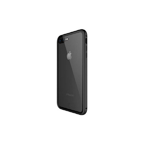 [WK] Magnetic Galss Case for iPhone 8/7 Plus - Black
