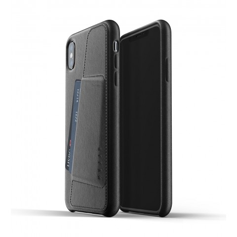 [MUJJO] Full Leather Wallet Case for iPhone XS Max - Black