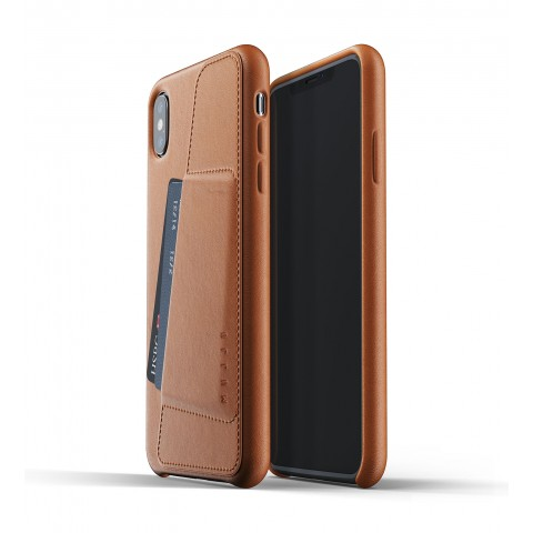 [MUJJO] Full Leather Wallet Case for iPhone XS Max - Tan