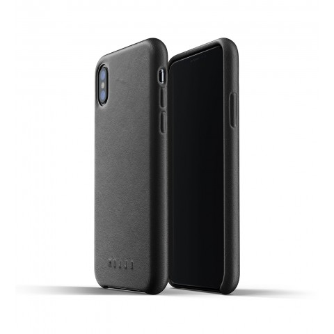 [MUJJO] Full Leather Case for iPhone XS Max - Black