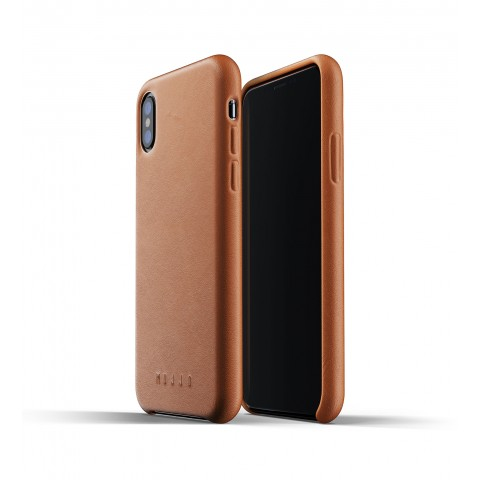 [MUJJO] Full Leather Case for iPhone XS Max - Tan
