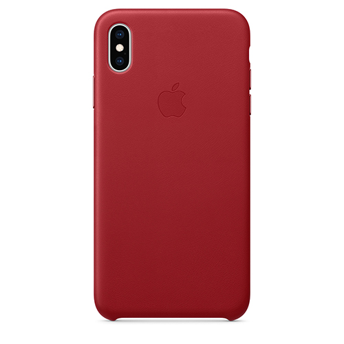 iPhone XS Max 가죽 케이스 - (PRODUCT)RED
