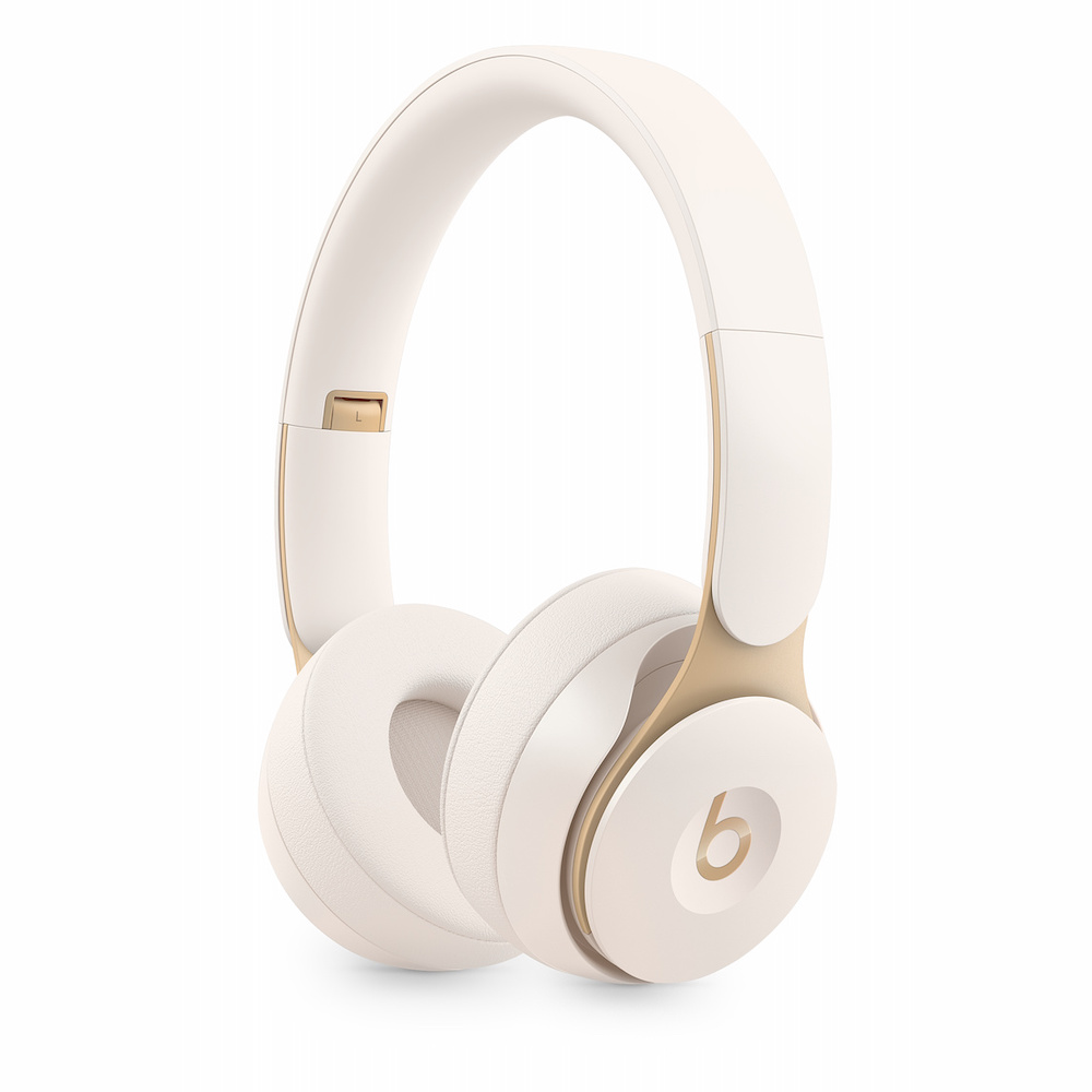 Solo Pro Wireless Noise Cancelling 헤드폰 - 아이보리