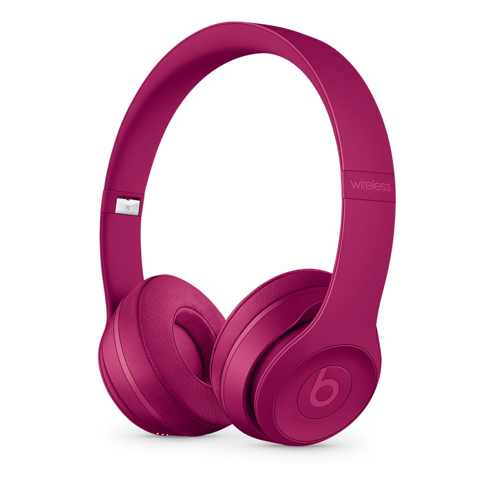 Beats Solo3 Wireless 온 이어 헤드폰 - Neighborhood Collection - 와인 레드