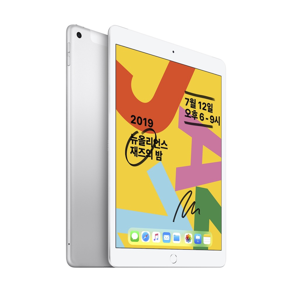10.2형 iPad 2019년형 Wi-Fi+Cellular 128GB 실버 (MW6F2KH/A)